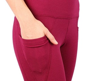 FAST SALE High waist fleece lined long leggings with two pockets - Heat Up