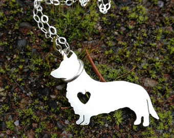 Petite Detailed Solid Sterling Silver Shape Necklace - Pet - Dog Cat Horse Bird and More - Choose your Breed - Personalize if you wish