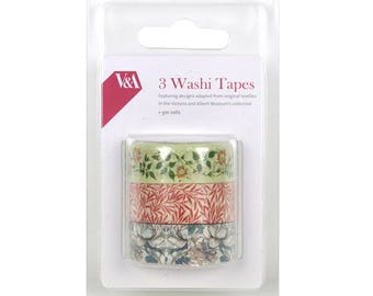 Floral Washi Tape Set, Victoria and Albert Museum, Flower Washi, Planner Tape, Scrapbooking, Cardmaking Supplies, Stationery Lovers Gift