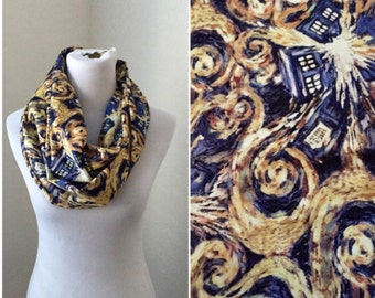Doctor Who Scarf- exploding tardis now available in regular and infinity!
