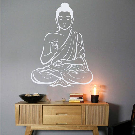 Buddha Wall Decor Om Wall Art Decal Yoga Wall Art Decal Indian
