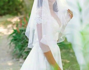 Designer Elbow Length Blusher Veil