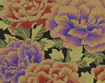 Kaffe Fassett GP33 Kimono Rust Purple Cotton Fabric By The Yard