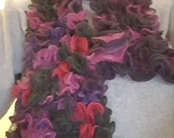 Purple Boa Scarf