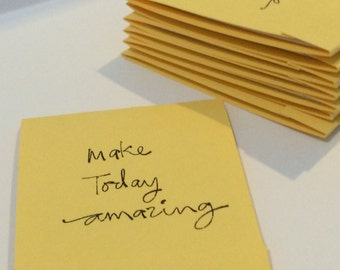 Make Today Amazing Inspirational Pastel Yellow Set of 10 Matchbook Mini Notepad Notebooks