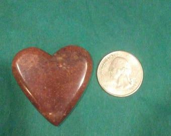 Pink quartzite heart cabochon