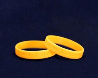 Wholesale Childhood Cancer Awareness Silicone Bracelets (50 Bracelets) (SILB-11)