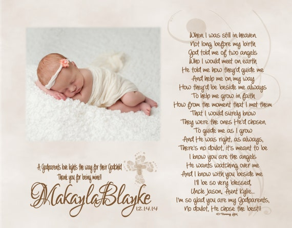 Baptism Gift For Godparents Christening Gift Godparents: Baptism Gift For Godfather Godmother Godparents Personalized