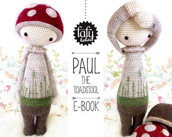 PAUL the toadstool • lalylala crochet pattern / amigurumi