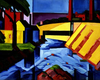 Evening Tones Painting by Oscar Bluemner Art Reproduction