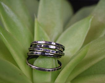 Made to order Sterling Silver Stacking Ring Bands in any size