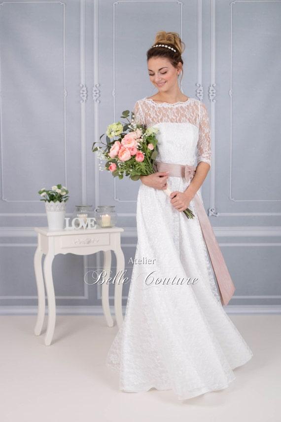 bodenlanges Brautkleid \