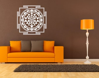 Sri Yantra - Wall Decal - Wall Sticker spiritual sticker Shree Yantra!
