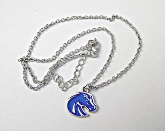 Broncos Mascot Jewelry, High School Jewelry, Team Jewelry, Team Colors, Broncos Necklace, Broncos Jewelry, Team Jewelry, College Jewelry