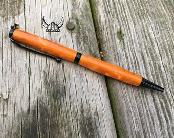 Orange / Pearl with Black Funline Pen