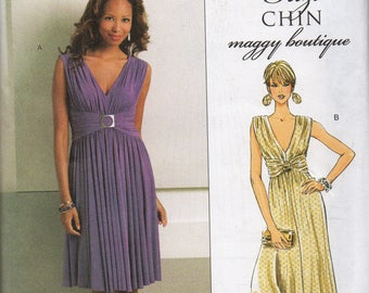 Suzi CHIN Butterick Pattern 5282 Stretch Knit EVENING DRESS  Misses Sizes 8 10 12 14