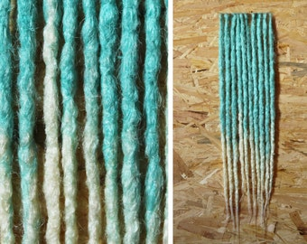 Crocheted Synthetic Dreadlocks   Dreads   Pieces 10-100 SE DE   Alternative Hairstyle   Blue   Ultra White   Hand Made   Loop   Brush
