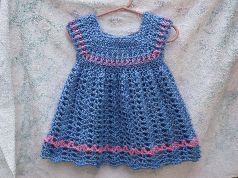 Powder Toddler Girls Dress Crochet Pattern