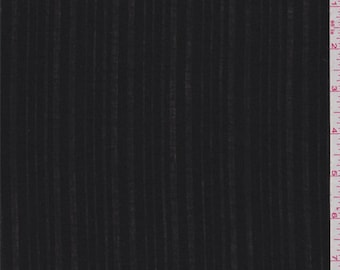 Black Burnout Stripe Lawn, Fabric By The Yard