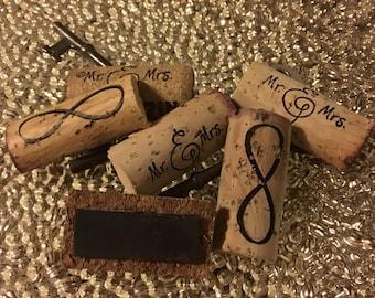 Wine Cork Magnets, Custom Wine Cork Magnets, Refrigerator Magnets, Kitchen Magnets, Kitchen Decor, Rustic Decor, Wedding Favors, Party Favor