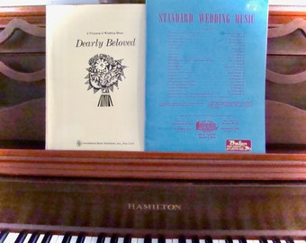 "Wedding Music Books (2) for piano and organ accompaniment to vocal solo (lyrics in ""Dearly Beloved"")"