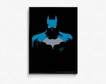 Batman comics the dark knight Batman and Robin art prints poster.