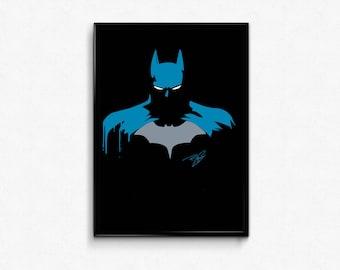 Batman comics the dark knight Batman and Robin art prints poster.