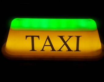Taxi roof light, Taxi led sign, Taxi top light, Cab roof light, Taxi cab, Red to green led light wit magnet, uber, uber sign