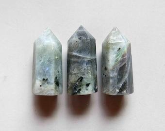 Handmade Polished Labradorite Point 32mmx12mm - B1588