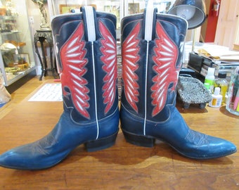 """Pair of never worn """"Bicentennial 76""""  Red, White, and Blue Boots"""
