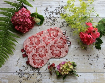 Reverse vintage woven pink floral sleep mask***SALE***