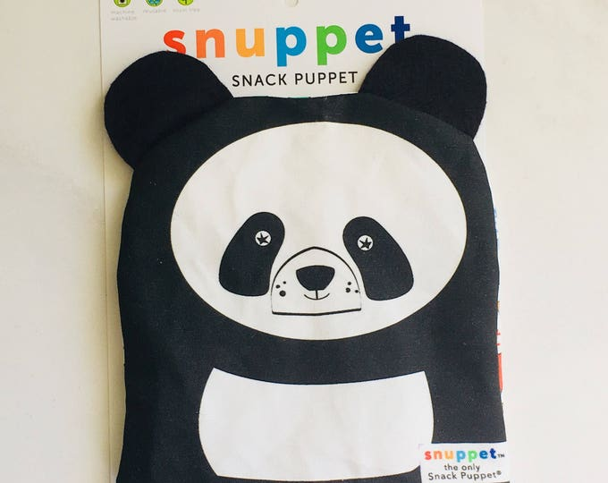Reusable Lined Zipper Bag- PANDA (FREE SHIPPING)