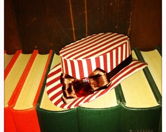 Mini Tilt Topper Hat - Candy Stripes