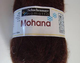 Pincushion 50g of yarn from Schachenmayr Mohana - chocolate brown - 4, 5-5, 5 needles