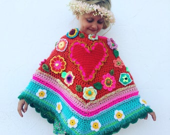 USA/UK Pattern/Tutorial how to make a  #pollevieponcho