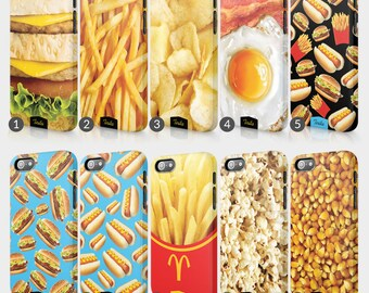 Fast Food Burger Fries Phone Case For HTC One Full Wrap Hard Cover Gift Keptchup Mustard French Fries Pickles Onion Tomato