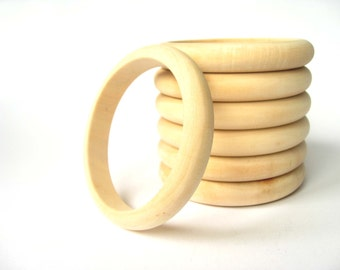 Wooden Bracelet 12 mm, Se tof 6, Unfinished Wood Bangle, Wood Bracelet, Craft Supply, Jewelry Supply, Natural Wood, Eco Friendly
