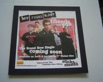 New Found Glory machte meine Freunde über Sie Original-Poster in einer benutzerdefinierten Mount bereit zum Rahmen