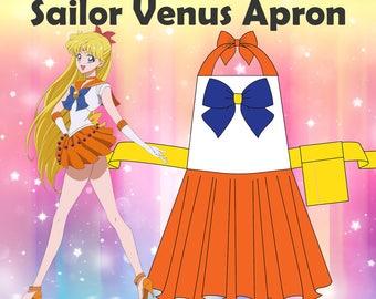 Sailor Venus Apron/Cosplay Apron/Sailor Scout/Cute Apron/Crafting Apron