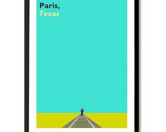 París Texas inspirada película Poster Art Print