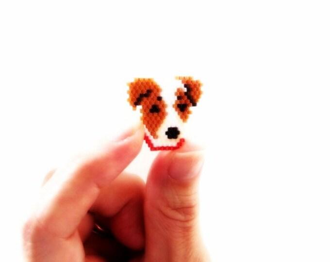 Jack Russell Dog Brick Stitch Bead PATTERN | Printable Digital Download