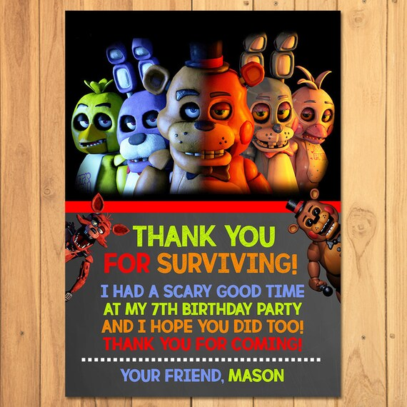 Five Nights At Freddys Party Package Matching Items