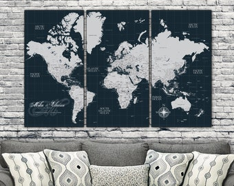 Current push pin world map personalized 1 panel canvas custom navy push pin travel map world set of 3 custom push pin world map canvas map travel map canvas push pin map world map push pin gumiabroncs Image collections