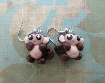 baby monkey earrings