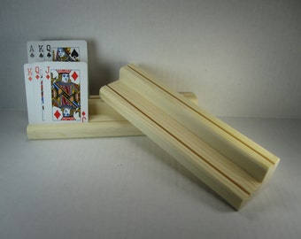 Wooden Playing Card Holder / Two Level / set of two