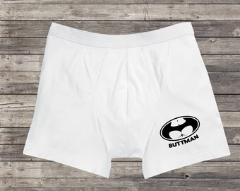 Men's CLASSIC BOXERS Funny Gift BUTTMAN Boxer Shorts For Men Gift For Him Valentine's Day Gift For Husband Boyfriend Funny Batman Underwear