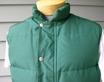 """vintage 70's - 80's -Walls 'Blizzard-Pruf'- Men's Down vest. """"Insulated Outerwear"""" - Made in USA. Medium"""