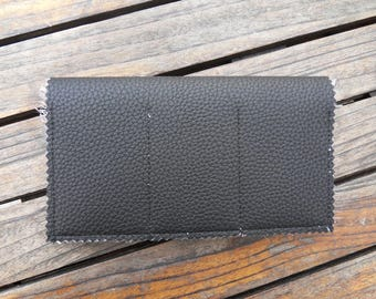 Black leather CHECKBOOK holder