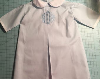 Infant Boys' Circle Monogrammed Daygown