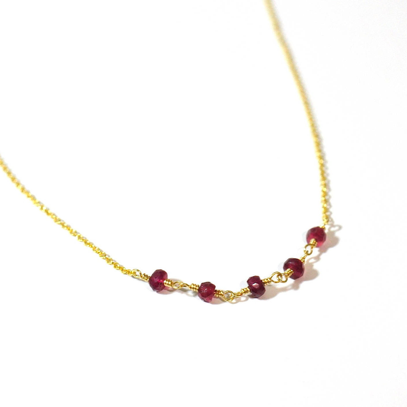 two necklace ch products ruby necklaces gemstone oval cut pendants esdomera collections pendant gold chain red tone